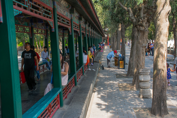 Very long Corridor at the Summer Palace.