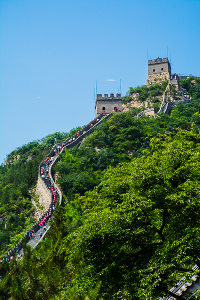 Climbing the Great Wall.