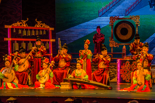 Scene from the Tang Dynasty Dancing Show in Xian.