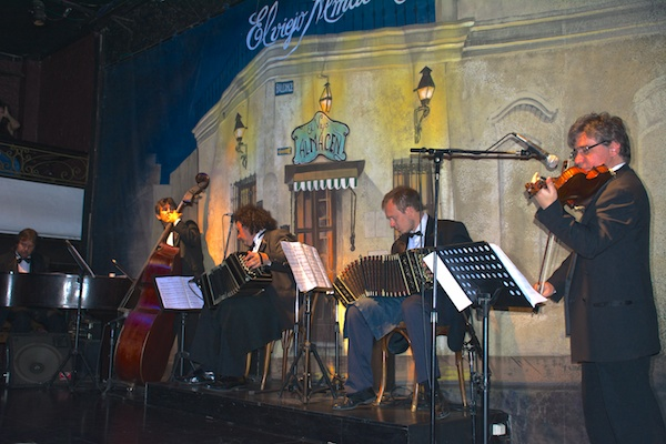 Orchestra for tango dance show in Buenos Aires.