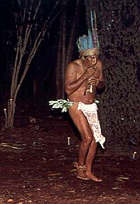 Indian in Amazon Jungle in Brazil.
