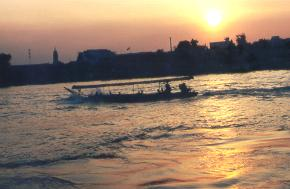 Sunset on the Chao Phraya River.