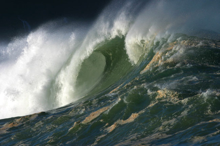 Large ocean waves.
