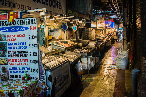 Fish market in Santiago, Chile.