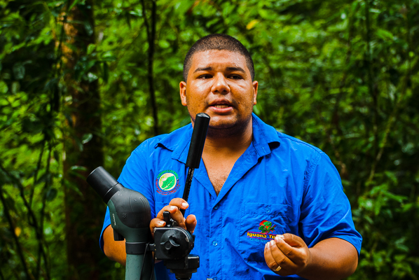 Naturalist guide Andres at Manuel Antonio National Park.