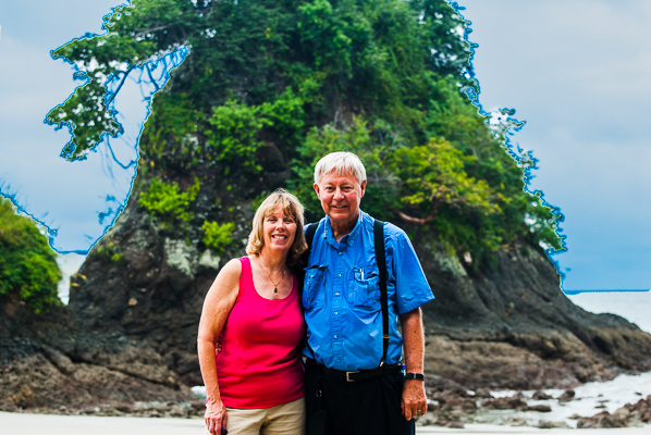 Rebecca and Sunny at Manuel Antonio National Park.