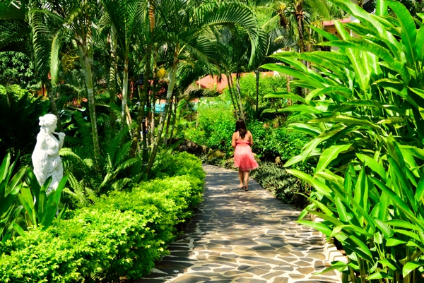 A lovely walkway at the Parador Resort and Spa.