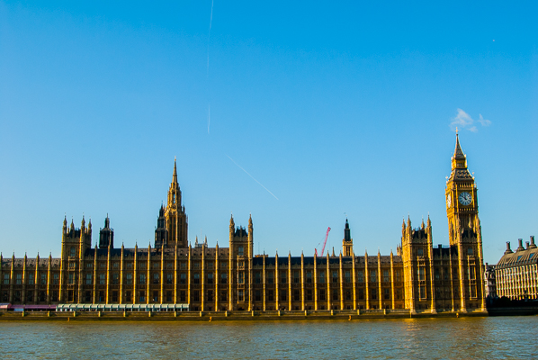 Palace of Westminster - the Houses of Parliament in London.