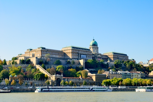 Buda Royal Palace on Castle Hill.