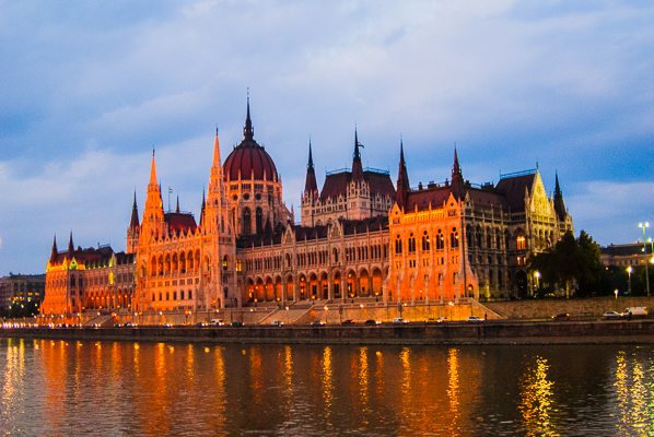 Hungary Parliament on the Danube River.
