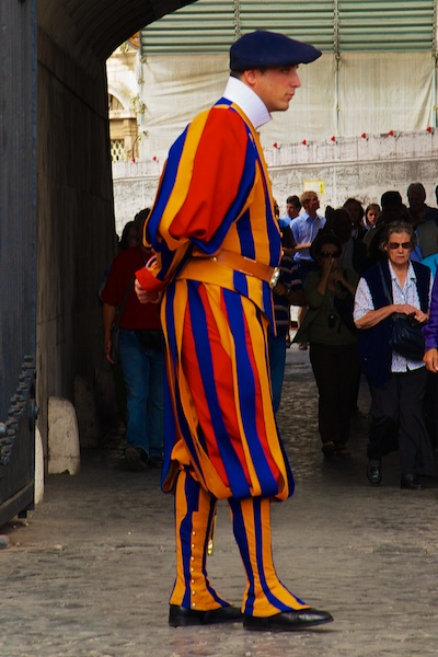 Swiss guard at the Vatican.