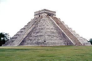 El Castillo pyramid in Yucatan, Mexico.