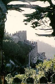 Ruins of Moorish castle in Sintra, Portugal.